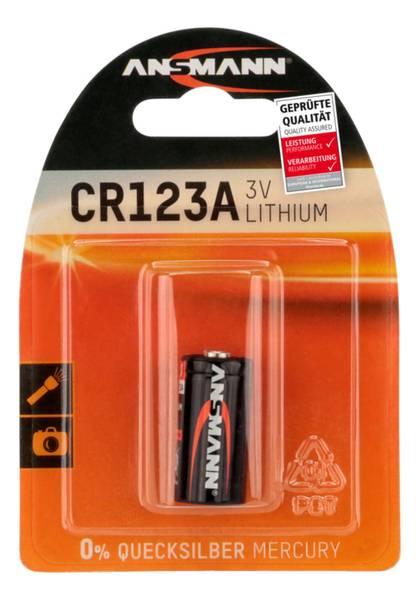 Bilde av Lithium batteri CR123A, 1-pk