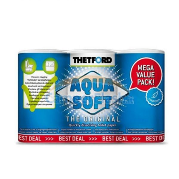 Bilde av Aqua Soft toalettpapir 6pk